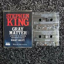 Stephen King Gray Matter and Night Shift Audio Books 1993, 2 Cassette Tape