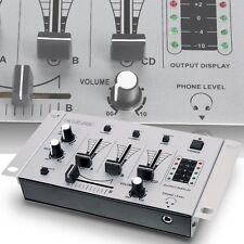 3-Kanal DJ-Mischpult BASIC Einsteigermischpult Mixer Party König KN-DJMIXER10