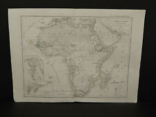 Atlas General De Geographie, c. 1850s Africa Z1#87