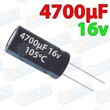 Condensadores electroliticos 4700uF 16v ±20% 13x26mm - Lote 1 unidad - Electroni