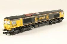 "N Gauge Farish Class 66 Diesel Locomotive ""Medite"" Black GB Railfreight Livery!"