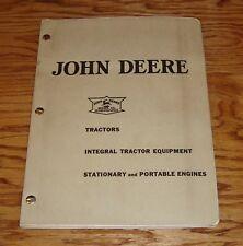 Original 1938 John Deere Tractor Equipment & Engine Dealer Sales Manual Brochure