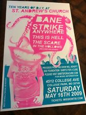 2009 Bane band concert Poster College Park Maryland * Strike Anywhere This Hell