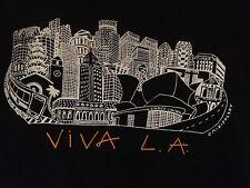 Miripolsky VIVA L.A. Los Angeles Skyline Art T-shirt, Adult L Black Rhinestone