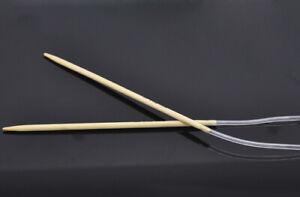 Bamboo Circular Knitting Needle. Choose Length & Size. UK Seller, Fast Dispatch