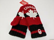 Vancouver 2016 Team Canada Black Red MITTENS Olympics S/M Unisex