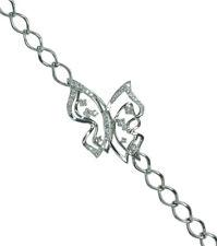 Diamond 0.47 carat Gemstone Butterfly 14ct White Gold Bracelet