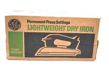 Vintage GE Permanent Press Settings Lightweight Dry Iron New Old Stock