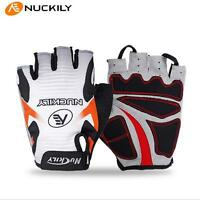 NUCKILY Cycling Gloves Bike Bicycle GEL Sports Mountain Half Finger Shockproof