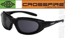 Crossfire Journey Smoke Anti Fog Large Safety Glasses Riding Foam Padded Z87+