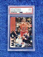 Michael Jordan 1995 Upper Deck 341 Electric Court SP Chicago Bulls PSA 9 Low POP