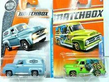 Matchbox 1955 Ford F-100 Panel Diecast Truck Lot: Color/Graphics Variations NIP