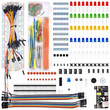 Electronics Component Basic Kit With 830 Tie Points Breadboard Cable Resist Sqqa