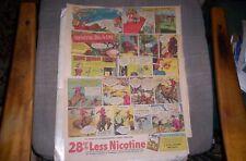 Lot of 7 Camel Cigarette Celebrity Athlete Sunday Comic Ads 1942-47