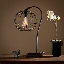 JTL12525 CHOCOLATE INDUSTRIAL STYLE TABLE LAMP W/ LED LIGHT BULB