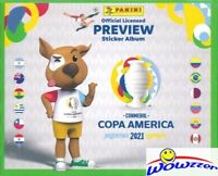2021 Panini Copa America Preview Factory Sealed 50 Pack Sticker Box-250 Stickers