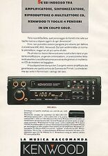 X0268 Autoradio Kenwood - Pubblicità 1992 - Vintage Advert