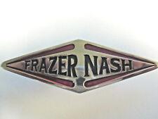 Frazer Nash BADGE auto-PIASTRA CROMATA IN METALLO-SMALTO-con raccordi