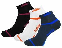 3 Pairs Mens Prohike Performance Trainer Socks, Black White Navy, Size 6-11