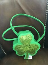 CAT & Jack girls PURSE NEW shamrock clover lucky bag cross body