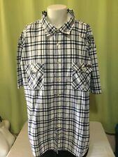 Enyce Men's Black White Plaid Checks SS Button Front Shirt Size 6XL