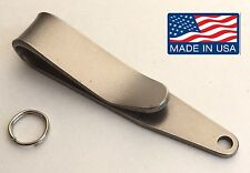 Titanium Pocket Suspension Clip EDC. Flashlights Keys Tools Knife Keychain Ti