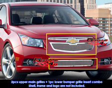 Fits Chevy Cruze LT/LTZ RS pakage Mesh Grill Combo 2011-2014