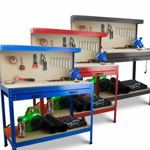 BITUXX Werktisch Werkbank Arbeitstisch Arbeitsplatte Lochwand Werkstatt