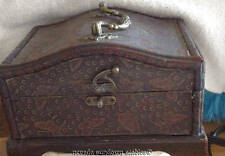 Antique Trinket Box with Beautiful Ornate Clock Inside