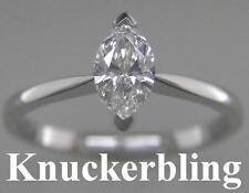 Diamond Solitaire Engagement Ring 0.70ct Certified VS2 Marquise 18ct White Gold