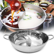 30cm Stainless Steel Hot Pot Cookware Shabu Shabu Dual Site Induction Compatible