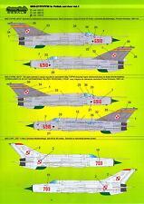 Model Maker Decals 1/32 MIKOYAN MiG-21PF MiG-21PFM in Polish Service Part 1
