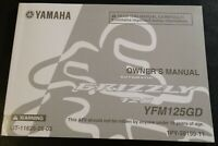 2012 YAMAHA ATV AUTOMATIC GRIZZLY 125 OWNERS MANUAL LIT-11626-26-03  (481)