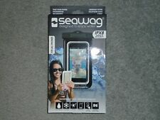 SEAWAG IPX8 Black 100% Waterproof Phone Case w Neck Strap Fits All Phones - NEW