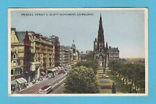 SCOTLAND  -  DENNIS  &  SONS  POSTCARD  -  PRINCES  STREET  EDINBURGH  -  C 1954