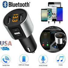 Bluetooth Car FM Transmitter MP3 Player Wireless Radio Adapter Kit 2 USB Charger