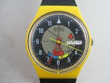 Vintage Swatch Watch 1985 Yamaha Racer GJ700 WORKING!!!