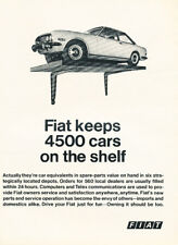 1971 Fiat 124 Coupe shelf Vintage Advertisement Ad P35