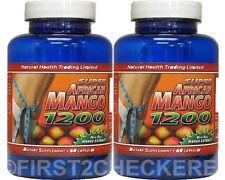 2 Super African Mango 1200 Extract Burn Fat Weight Diet Loss Irvingia Gabonensis