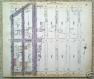 Original 1922 Map of the Flatlands Area of Brooklyn-Ave K & Flatbush - Flatlands