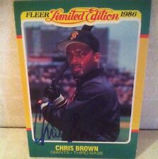 1986 Fleer Limited Edition Chris Brown Auto Signed Card d. 06 RARE