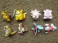 Pokemon Vintage Origanal Small Tomy Figures x 8 Pikachu