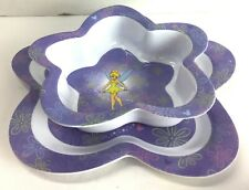 Tinkerbell Mealtime Dinnerware Set Includes Plastic Plate & Bowl EXCELLENT #20A