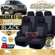 MAZDA BT-50 BT50 DUAL CAB BLACK CUSTOM FIT SEAT COVERS 09/2015-2018 GT XT XTR