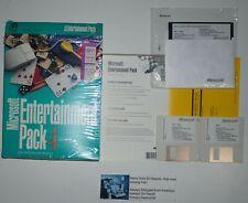 "Microsoft Entertainment Pack 4 Windows computer games 3.5"" discs Original Box!"