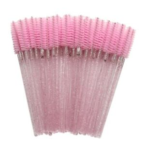 Women's Eyelash Brush Disposable Crystal Extension Comb Makeup Tools 50Pcs/pack