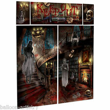 Gothic Halloween HAUNTED HOUSE Mansion Party Scene Setter Wall Decorating Kit