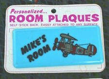 Vintage MIKE Room Plaque Name Plate Sign Kids Children's Rooms NOS 1970s 1973