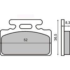 225101650 RMS Coppia pastiglie freno ANTERIORE SYM Mio 100 2013 2014