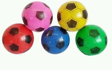 """40pc PLASTIC FOOTBALLS 8"""" FLAT PACKED UN-INFLATED IN 5 DIFFERENT COLOR JOBLOT"""